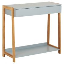 Hartleys Grey & Bamboo Console Table