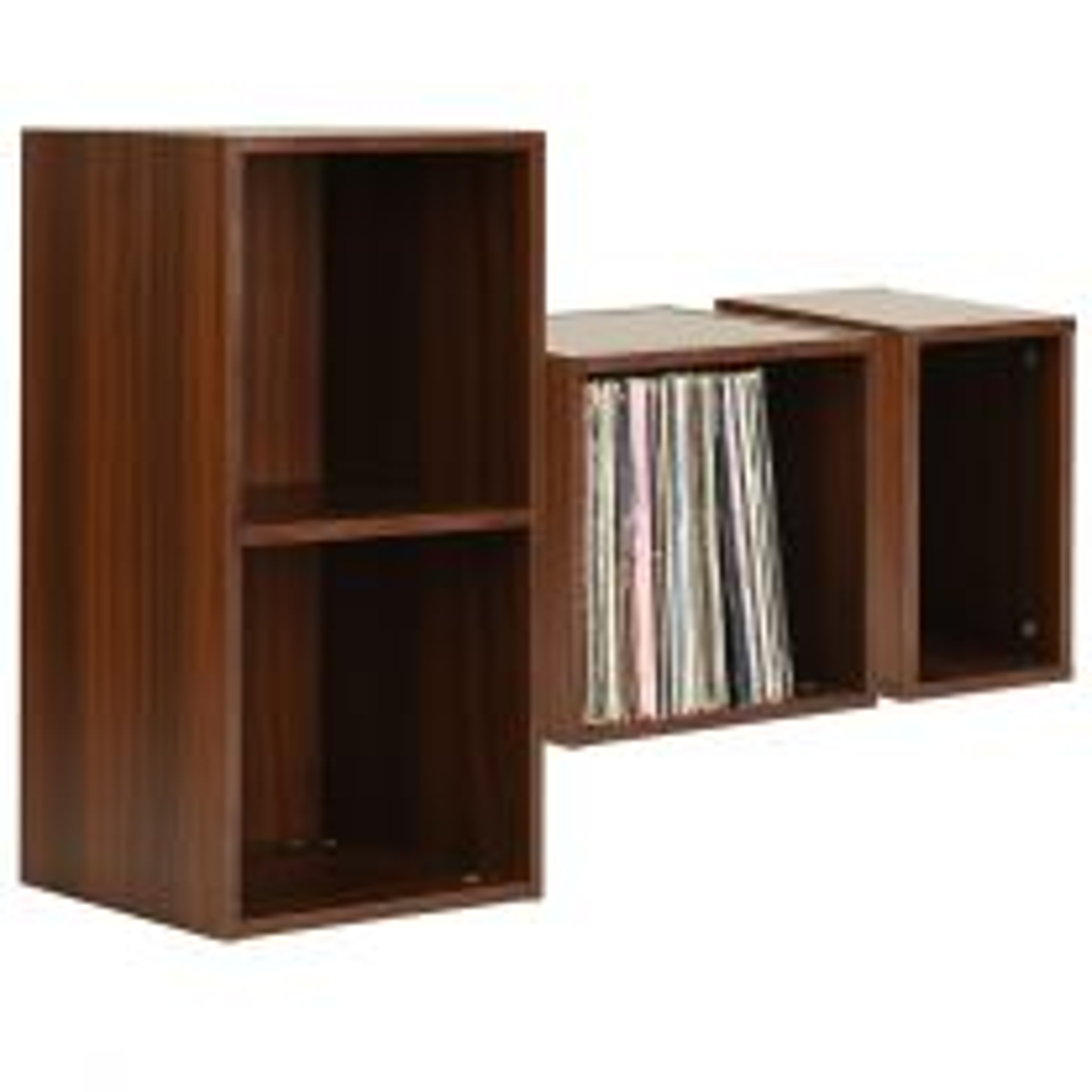 Hartleys Walnut Effect Vinyl Record LP Storage Unit
