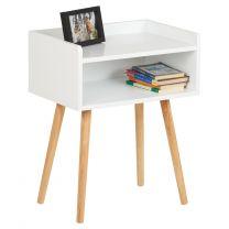 Hartleys White Open Shelved Bedside Table