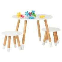 Hartleys White Kids Table and Chairs Set