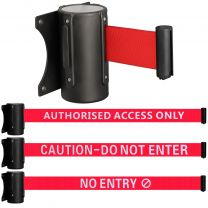 Wall Mounted Safety Barrier Belt - Choice of Design