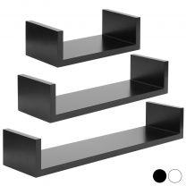 Hartleys Set of 3 Floating Wall Shelves - Choice of Colour