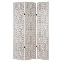 Hartleys Off-White 3 Panel Art Deco Room Divider