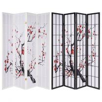 Hartleys 4 Panel Cherry Blossom Room Divider