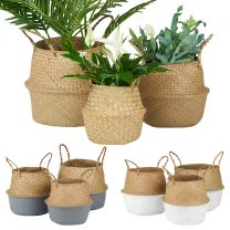 Hartleys Set of 3 Seagrass Belly Baskets