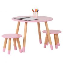 Hartleys Pink Kids Table and Chairs Set