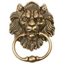 Hartleys Brass Lion Furniture Knocker Handle