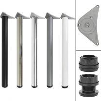 Hartleys 710-730mm Adjustable Table Leg