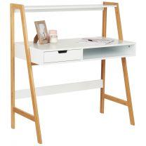 Hartleys White & Bamboo Home Office Desk