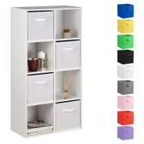 Hartleys 15mm White 8 Cube Storage Unit and 4 Handled Box Drawers