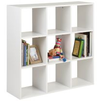 Hartleys White 9 Cube Shelving Unit