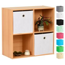 Hartleys Beech 4 Cube Storage Unit & 2 Easy Grasp Box Drawers