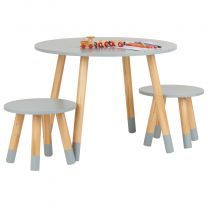 Hartleys Grey Kids Table and Chairs Set