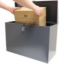 Large Grey Parcel Mailbox