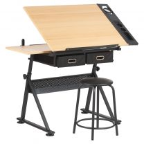 Hartleys Drawing Board / Craft Table With Stool