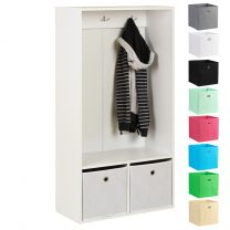 Hartleys 2 Cube Kids Coat Stand & 2 Easy Grasp Box Drawers