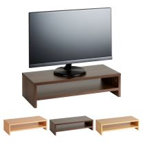 Hartleys Wood Effect 2 Tier Monitor Riser - Choice of Colour