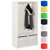 Hartleys 2 Cube Kids Coat Stand & 2 Handled Box Drawers