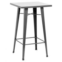 Hartleys Tall Industrial Design Table - Gunmetal Grey
