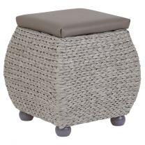 Hartleys Small Grey Storage Ottoman