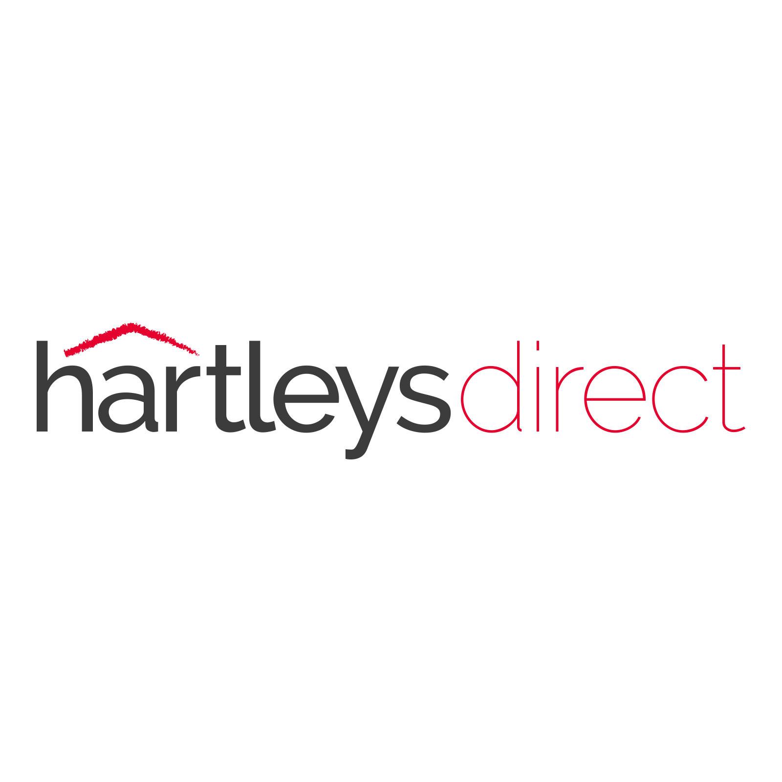 Hartleys Set of 2 Clear Glass 100cm Shelves