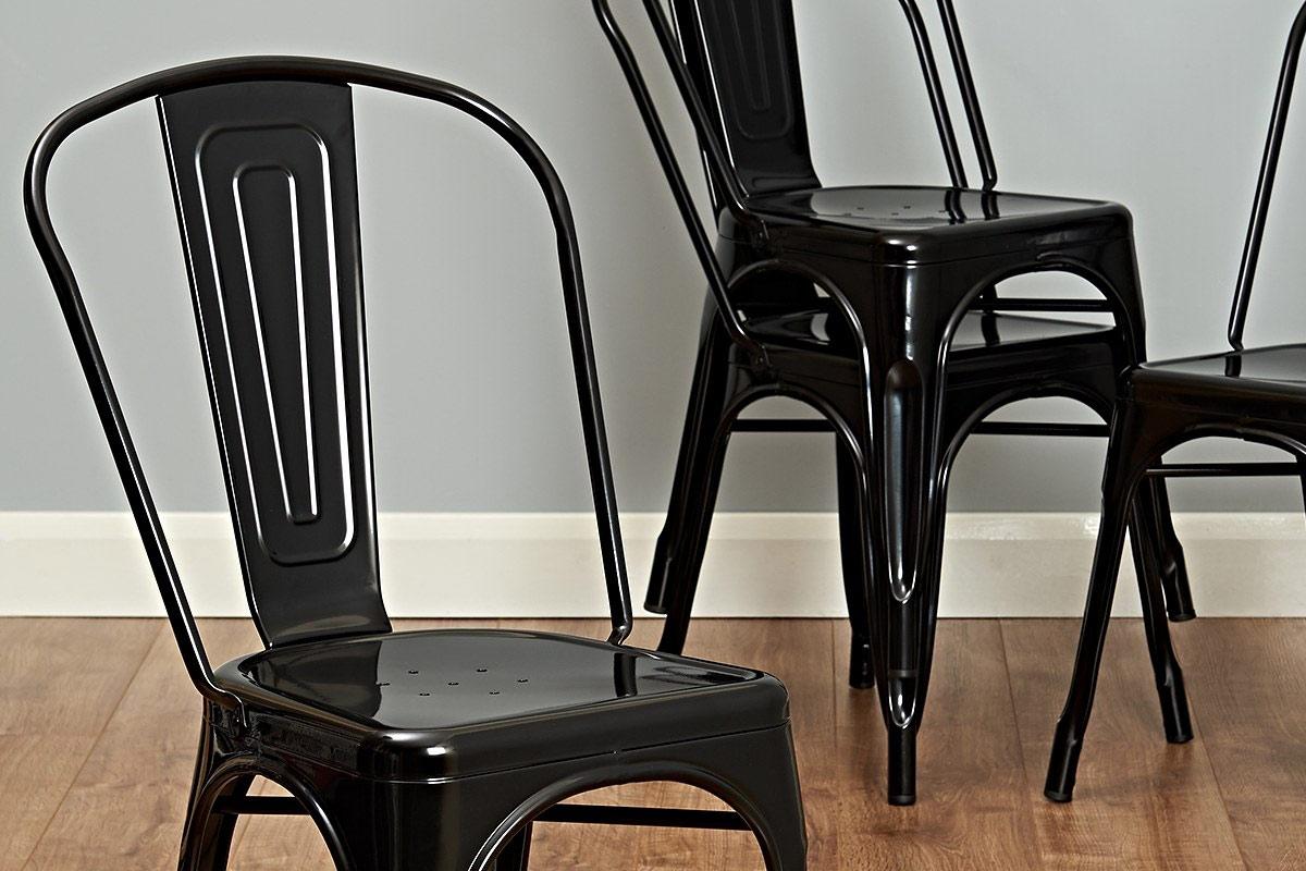 stunning black bistro chairs