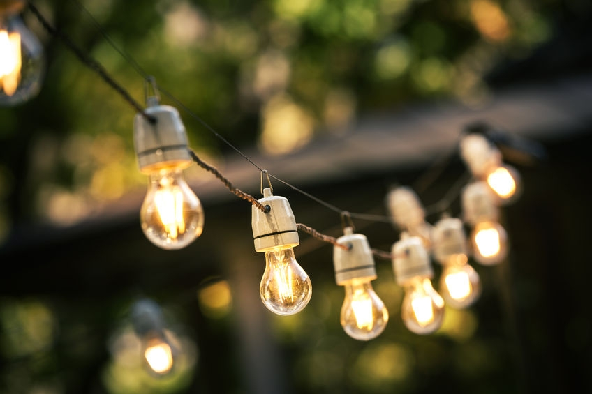 image of lights in a garden