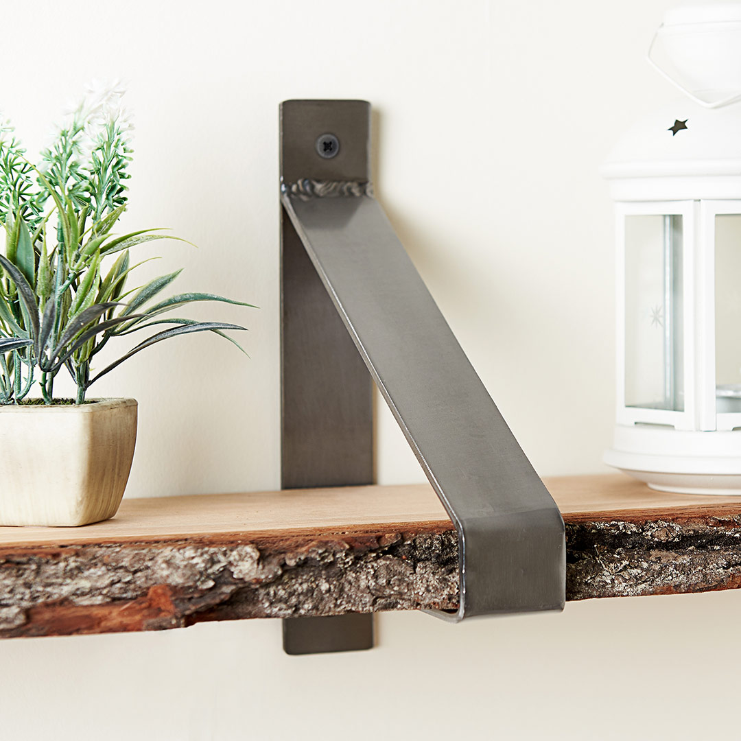 hartleys direct stunning wall brackets with real wood shelf and accessories