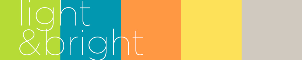 Light and bright colour palette